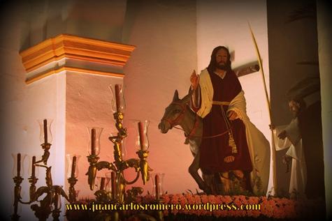 Año 2012 | La imagen de Jesús del Amor de la Sagrada Entrada en Jerusalem en la Parroquia del Divino Salvador de Castilblanco