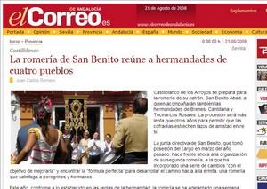 La Romeria de San Benito en El Correo de Andalucia