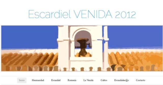 La Hermandad de Escardiel presentó este sábado la web de la Venida de la Virgen 2012: www.escardieleros.wordpress.com